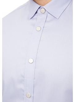 Рубашка повседневная сиреневая однотонная